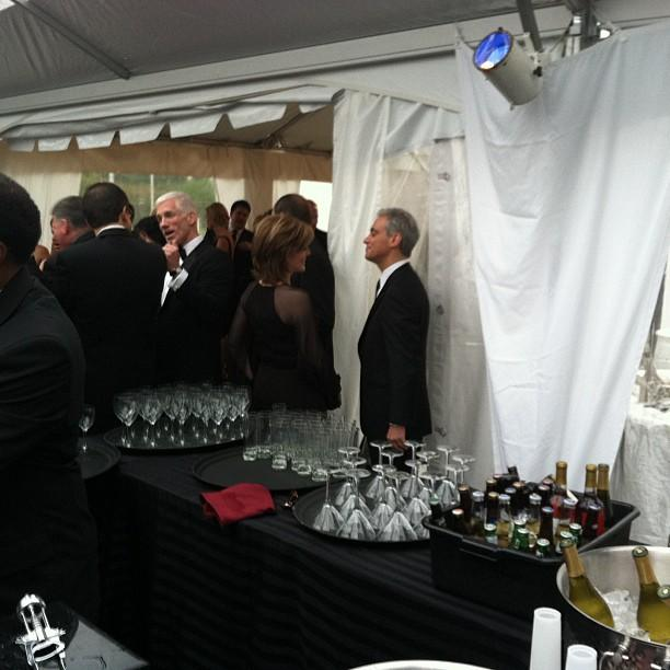 The mayor, Rahm Emanuel, moments after unleashing a string of expletives at the Yahoo/ABC party. #whcd
