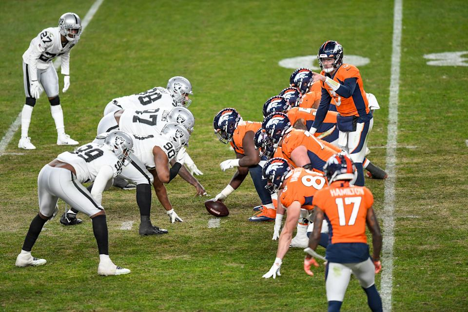 The Denver Broncos have had a big shift in their 2021 win total odds. (Photo by Dustin Bradford/Icon Sportswire via Getty Images)