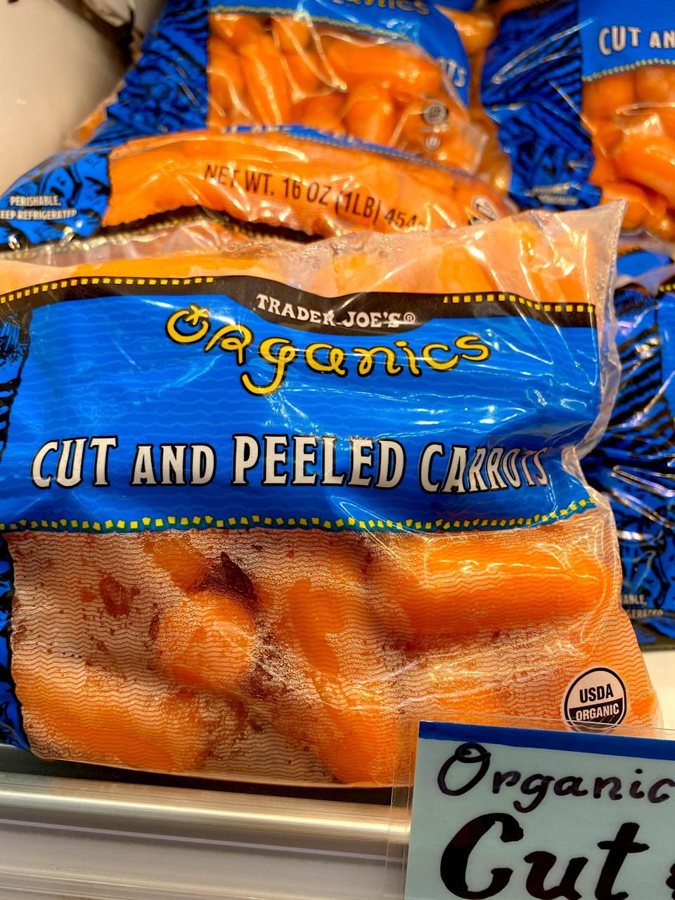 <p>Again, I could peel and cut my own carrots, but these are so easy! I like to munch on a handful while my lunch is heating in the microwave.</p>