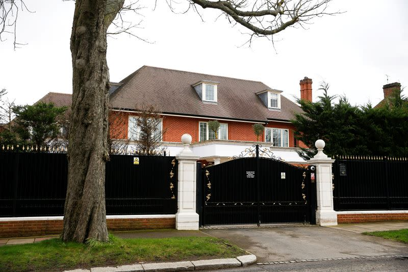 FILE PHOTO: General view shows houses in The Bishops Avenue, Hampstead, in London