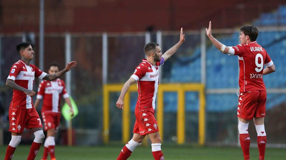 Pulgar, Pezzella e Vlahovic | Jonathan Moscrop/Getty Images