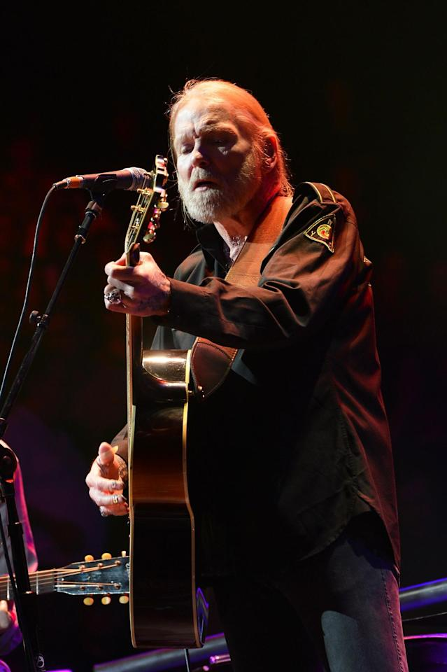 <p>Gregg Allman performs on stage during the 2013 Crossroads Guitar Festival at Madison Square Garden on April 13, 2013 in New York City. (Larry Busacca/Getty Images) </p>