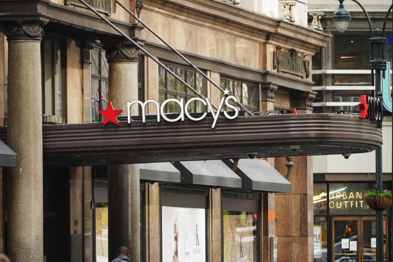 Photo by: John Nacion/STAR MAX/IPx 2020 5/18/20 A view of Macy's Department Store during the coronavirus pandemic on May 18, 2020 in New York City. COVID-19 has spread to most countries around the world, claiming over 316,000 lives with over 4.8 million infections reported. All Macy's stores in New Hampshire reopen.