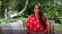 """<p>Meghan Markle is edging towards the end of her pregnancy with baby number two, and she showed off her blooming bump in a <a href=""""https://www.cosmopolitan.com/uk/fashion/celebrity/a36379199/meghan-markle-necklace/"""" rel=""""nofollow noopener"""" target=""""_blank"""" data-ylk=""""slk:recent video"""" class=""""link rapid-noclick-resp"""">recent video</a> for Global Citizen's <a href=""""https://www.youtube.com/watch?v=C02GCe5_bDk"""" rel=""""nofollow noopener"""" target=""""_blank"""" data-ylk=""""slk:Vax Live: The Concert to Reunite the World"""" class=""""link rapid-noclick-resp"""">Vax Live: The Concert to Reunite the World</a>. In the video, the Duchess cradled her bump underneath a gorgeous red and pink Carolina Herrera red poppy shirt dress (still available to buy at <a href=""""https://www.farfetch.com/uk/shopping/women/carolina-herrera-floral-print-shirt-dress-item-15971185.aspx?size=18&storeid=9982&utm_source=google&utm_medium=cpc&utm_keywordid=126432431&utm_shoppingproductid=15971185-50&pid=google_search&af_channel=Search&c=1603618029&af_c_id=1603618029&af_siteid=&af_keywords=pla-387238906938&af_adset_id=66294291332&af_ad_id=305209734647&af_sub1=126432431&af_sub5=15971185-50&is_retargeting=true&shopping=yes&gclid=Cj0KCQjws-OEBhCkARIsAPhOkIaMhKYNXDzb5ODe1fZo40xBaupnicMWYeKDwQlWFxp_veJFd0HnDXgaAuQ9EALw_wcB"""" rel=""""nofollow noopener"""" target=""""_blank"""" data-ylk=""""slk:Farfetch"""" class=""""link rapid-noclick-resp"""">Farfetch</a>, if you've got a casual £2,200 lying around) as she spoke about gender equality and her unborn daughter. """"My husband and I are thrilled to soon be welcoming a daughter. It's a feeling of joy we share with millions of other families around the world. When we think of her, we think of all the other families around the globe who must be given the ability and support to lead us forward. Their future leadership depends on the decisions we make and the actions we take now to set them up and to set all of us up for a successful, equitable, and compassionate tomorrow,"""" Meghan said.</p>"""