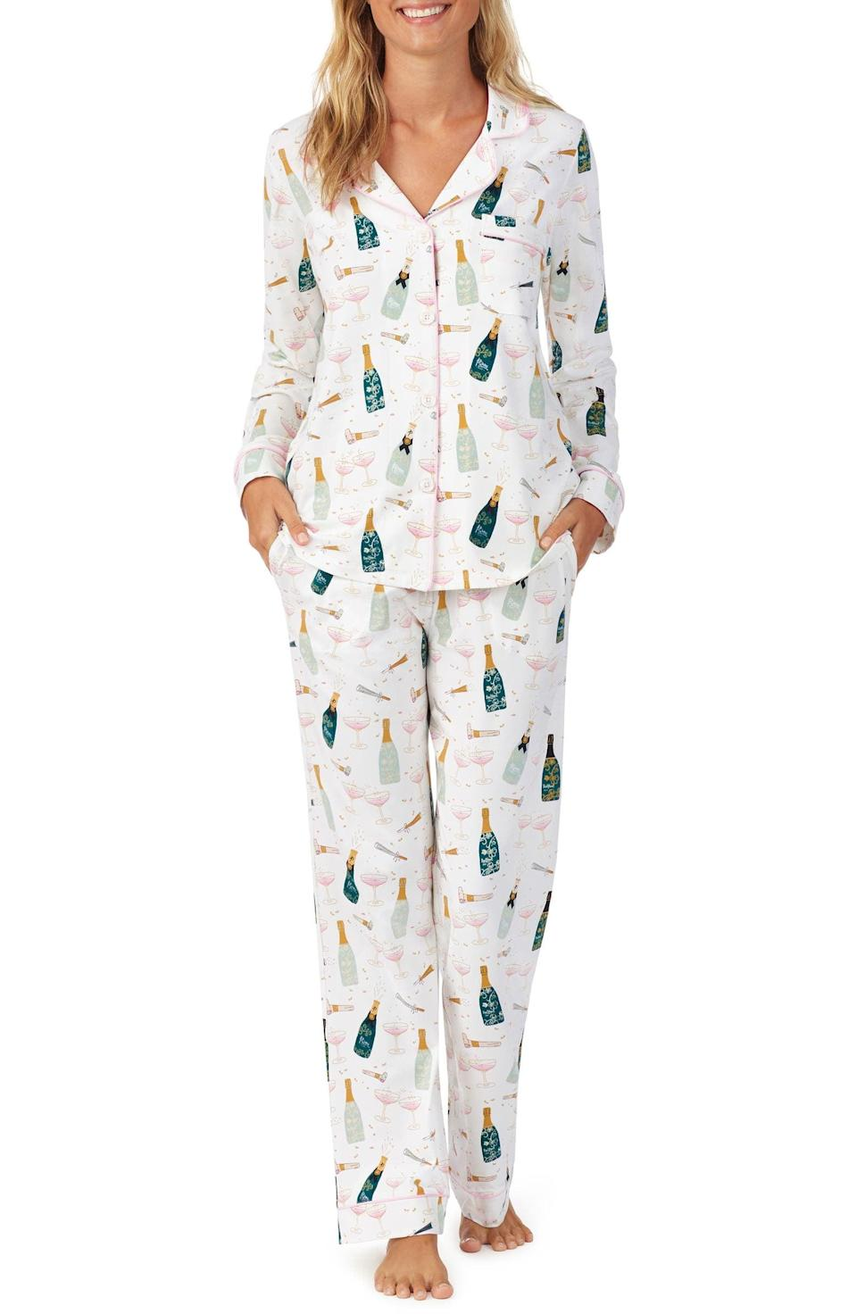 <p>You'll take all your Zoom calls in these <span>BedHead Cheers Print Classic Pajamas</span> ($120).</p>