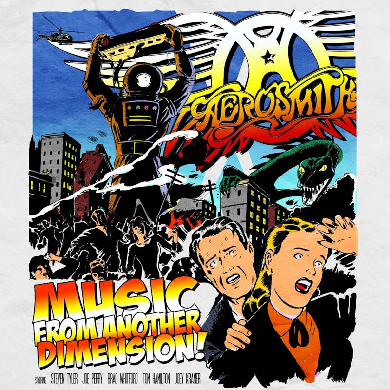 """This CD cover image released by Columbia Records shows the latest release by Aerosmith, """"Music from Another Dimension.""""  (AP Photo/Columbia Records)"""