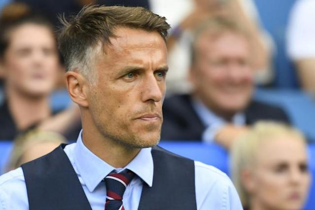 Phil Neville will leave his role as England women's manager in 2021 (AFP Photo/Damien MEYER)