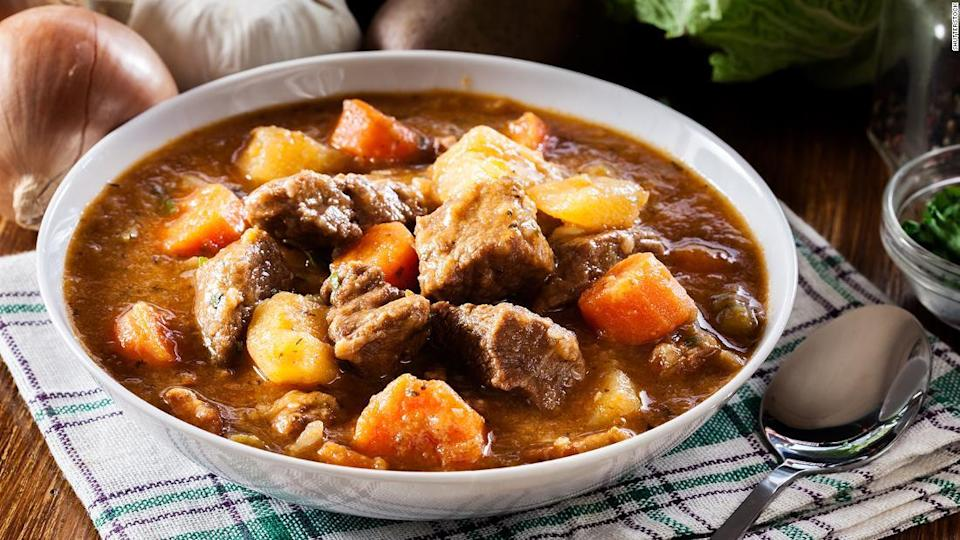 "<p>Not just for St Patrick's Day: Irish stew. </p><div class=""cnn--image__credit""><em><small>Credit: Shutterstock / Shutterstock</small></em></div>"