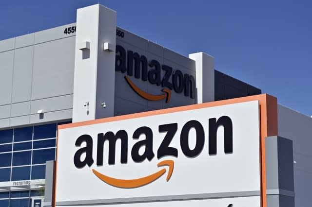 An Amazon distribution center is seen as the coronavirus continues to spread across the United States, on April 25, 2020 in North Las Vegas, Nevada. - Nevada Gov. Steve Sisolak ordered a mandatory shutdown of nonessential businesses, including all casinos, in the state through at least April 30, 2020 to help combat the spread of the virus. The World Health Organization declared the coronavirus (COVID-19) a global pandemic on March 11th. (Photo by David Becker / AFP) (Photo by DAVID BECKER/AFP via Getty Images)