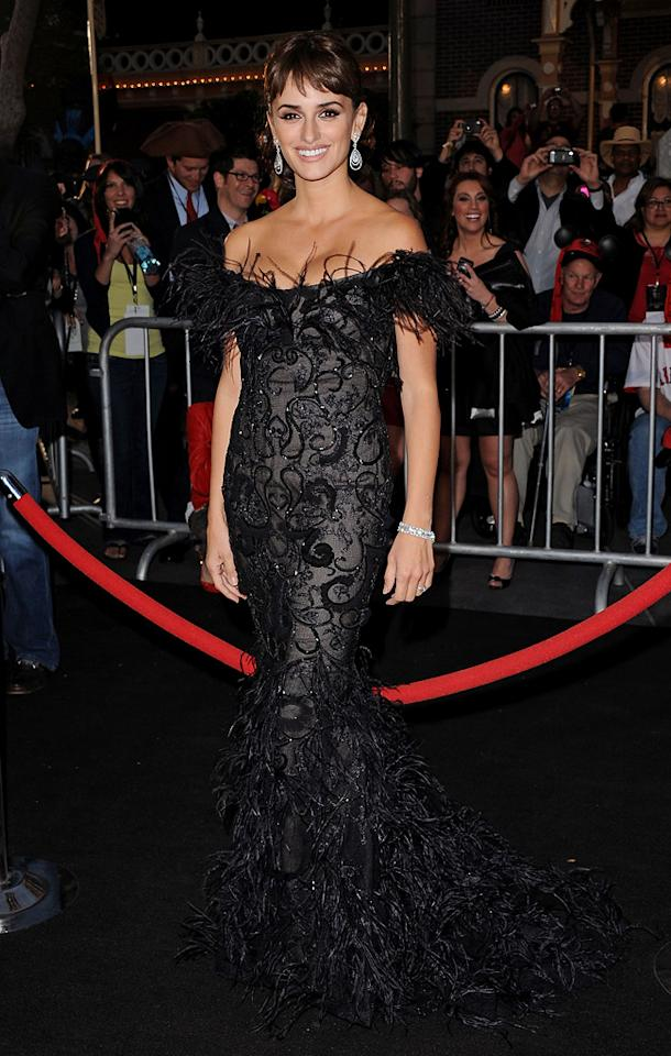 """<a href=""""http://movies.yahoo.com/movie/contributor/1800019548"""">Penelope Cruz</a> attends the Disneyland premiere of <a href=""""http://movies.yahoo.com/movie/1809791042/info"""">Pirates of the Caribbean: On Stranger Tides</a> on May 7, 2011."""