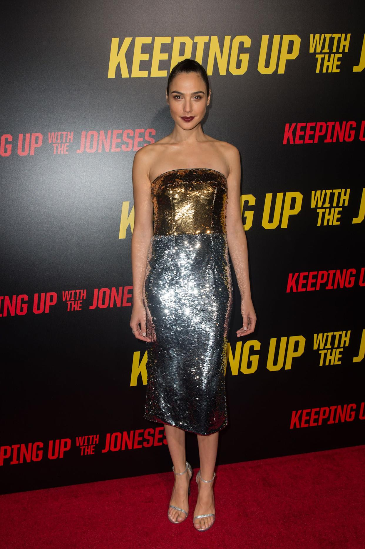 "At the premiere of ""Keeping up with the Joneses."""