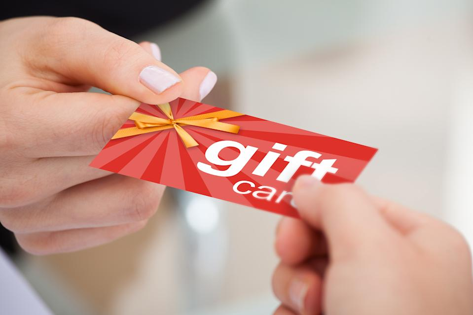 Gift cards are all too easy for scammers to get ahold of — and once they do, they can wreak havoc on your life. (Photo: Getty)