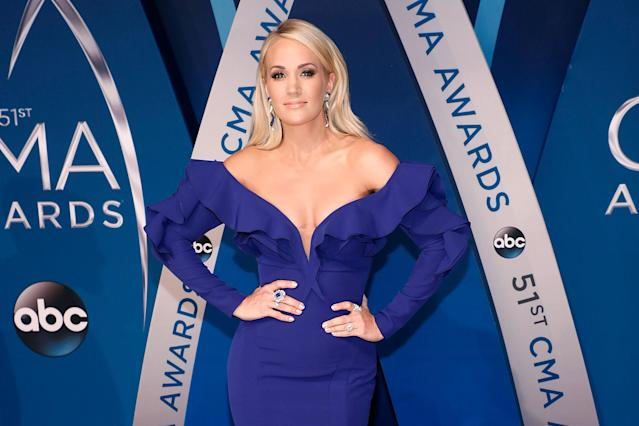 Carrie Underwood at the 51st annual CMA Awards in Nashville on Nov. 8. (Photo: Getty Images)