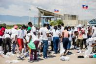 Haitian migrants flown out of Texas border city arrive in Port-au-Prince