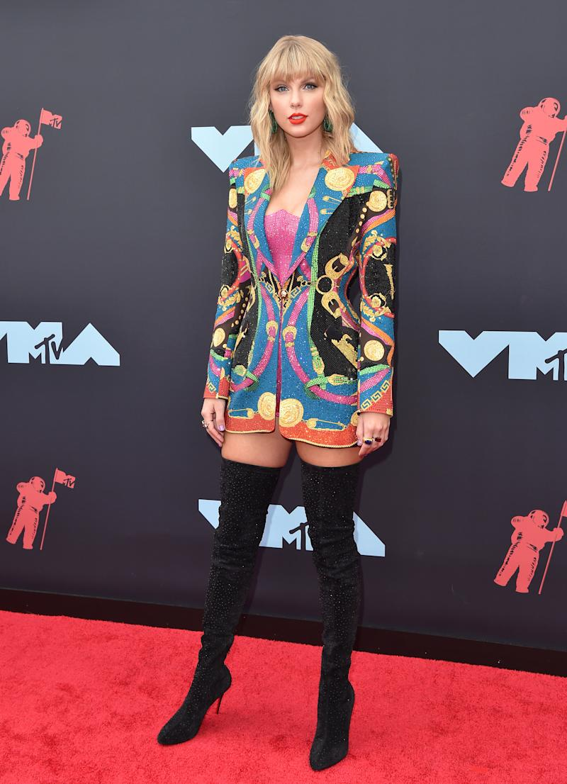 Taylor Swift attends the 2019 MTV Video Music Awards at Prudential Center on August 26, 2019 in Newark, New Jersey.