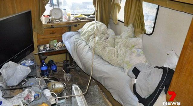 The 18 men lived in appalling conditions. Source: 7 News