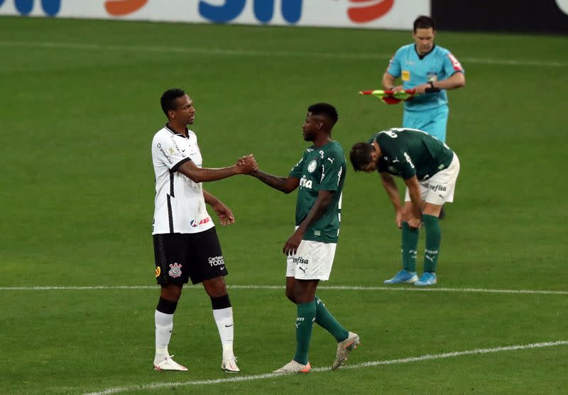 Two Corinthians players sent off in 2-0 defeat by Palmeiras