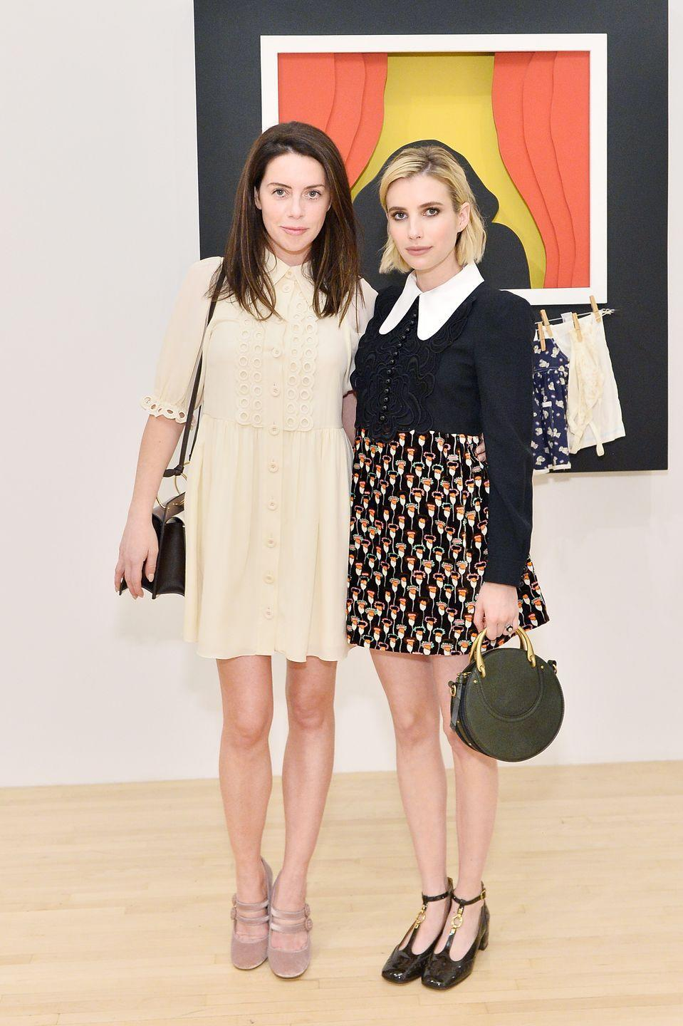 """<p><a href=""""https://www.eonline.com/news/863408/the-fabulous-life-of-non-famous-celebrity-bffs-the-perks-and-privileges-of-hanging-with-a-listers"""" rel=""""nofollow noopener"""" target=""""_blank"""" data-ylk=""""slk:E! News"""" class=""""link rapid-noclick-resp"""">E! News</a> previously reported on the friendship between Emma Roberts and Brit Elkin. According to the outlet, this pair became friends after Roberts shared a photo of an item from Brit's clothing line on social media. From there, Brit and her sister Kara Smith became close friends and stylists to Emma. """"Happy Birthday to my sister, best friend, wife, stylist, & everything <a href=""""https://www.instagram.com/britelkin/"""" rel=""""nofollow noopener"""" target=""""_blank"""" data-ylk=""""slk:@britelkin"""" class=""""link rapid-noclick-resp"""">@britelkin</a> 💝 I love you to the 🌝 and back always & forever! See you so soon sis!!!"""" Roberts wrote <a href=""""https://www.instagram.com/p/B5tJvm_gMWi/"""" rel=""""nofollow noopener"""" target=""""_blank"""" data-ylk=""""slk:on Instagram"""" class=""""link rapid-noclick-resp"""">on Instagram</a> last December.<br></p>"""