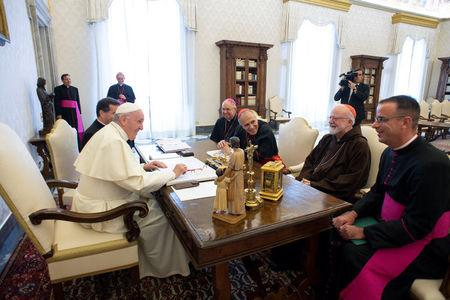Pope Francis meets U.S. Catholic Church leaders at the Vatican