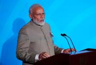 India's Prime Minister Modi speaks during the 2019 United Nations Climate Action Summit at U.N. headquarters in New York City, New York, U.S.