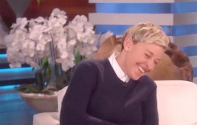 Ellen was in hysterics at Chrissy's admission. Source: NBC