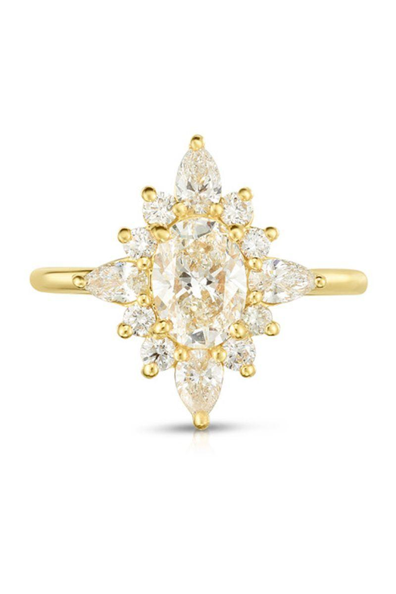 "<p><em><strong>Douglas Elliott for Marisa Perry </strong>Atelier Diamond Cluster Ring in 18K yellow gold, price upon request, <a href=""https://www.marisaperry.com/diamond-cluster-ring-18k-yellow-gold-marisa-perry-by-douglas-elliott/"" rel=""nofollow noopener"" target=""_blank"" data-ylk=""slk:marisaperry.com"" class=""link rapid-noclick-resp"">marisaperry.com</a>.</em></p><p><a class=""link rapid-noclick-resp"" href=""https://www.marisaperry.com/diamond-cluster-ring-18k-yellow-gold-marisa-perry-by-douglas-elliott/"" rel=""nofollow noopener"" target=""_blank"" data-ylk=""slk:SHOP"">SHOP</a></p>"