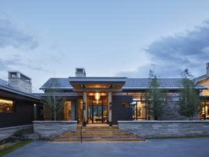 Front entry of Park City home.