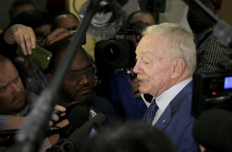 Dallas Cowboys owner Jerry Jones believes the owners are being misled on Roger Goodell's extension. (AP)