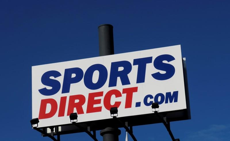 A company logo is seen outside a Sports Direct store in Vienna
