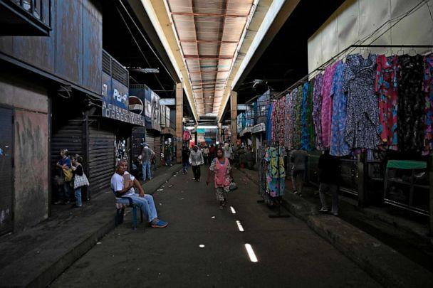 PHOTO: Closed stands are seen at the flee market in Maracaibo, Zulia State, Venezuela, on July 23, 2019. (Federico Parra/AFP/Getty Images, FILE)