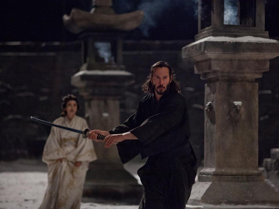 "Keanu Reeves as Kai in ""47 Ronin."""