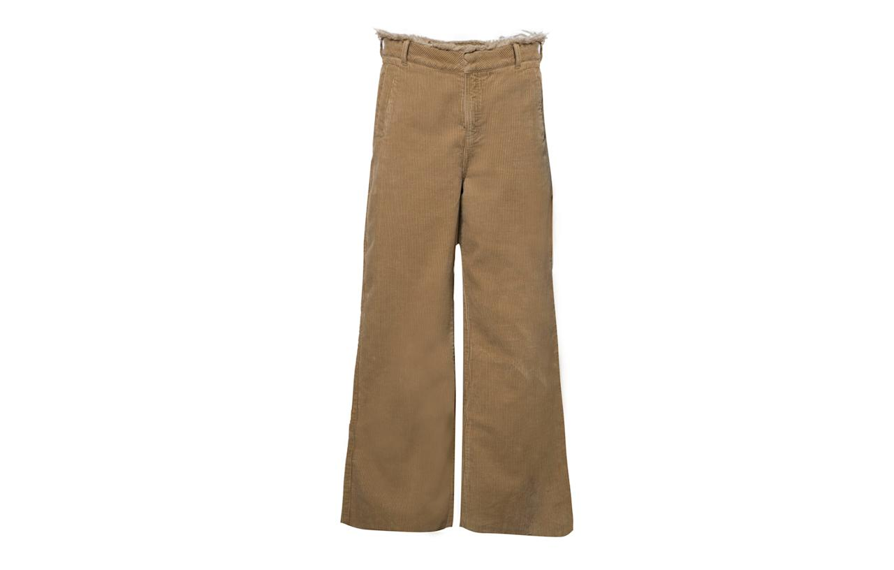 "<p>Cord is proving to be a huge trend for autumn so get ahead of the curve with Urban Outfitters' latest offering. With a slight flared cut and frayed waist, you'll be the talk of London Fashion Week in these.<br /><a rel=""nofollow"" href=""https://www.urbanoutfitters.com/en-gb/shop/bdg-puddle-light-brown-corduroy-trousers?category=SEARCHRESULTS&color=024""><i>Urban Outfitters, £56</i></a><br /><br /></p>"