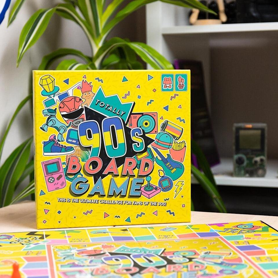 <p>See just how big of a '90s fan they are when you give them this <span>Totally '90s Board Game</span> ($28).</p>