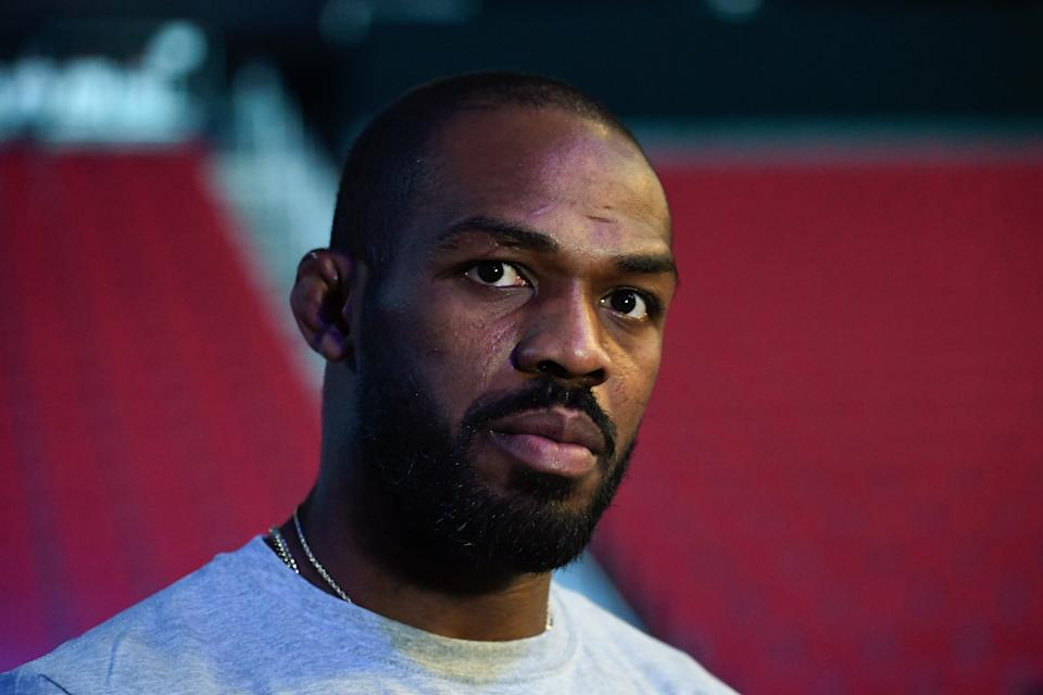 HOUSTON, TX - FEBRUARY 07:  Jon Jones waits backstage during the UFC 247 ceremonial weigh-in at the Toyota Center on February 7, 2020 in Houston, Texas. (Photo by Mike Roach/Zuffa LLC via Getty Images)