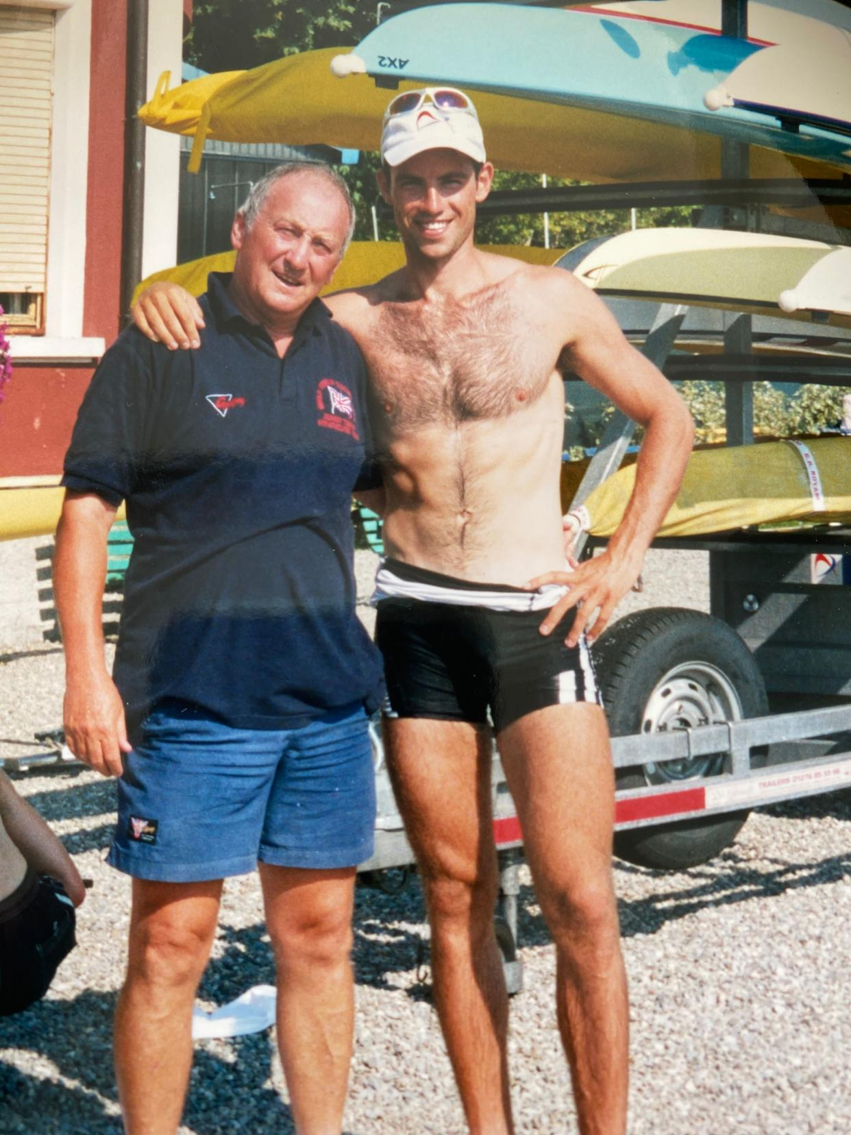 Mark Hunter, right, with dad Terry