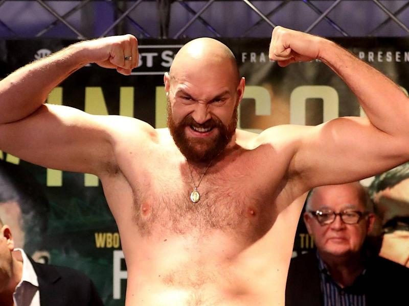 Tyson Fury takes on Francesco Pianeta at Belfast's Windsor Park on Saturday night (PA)