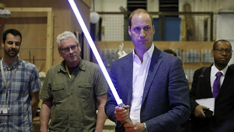 The lighsabre really suited the Prince. Source: Getty