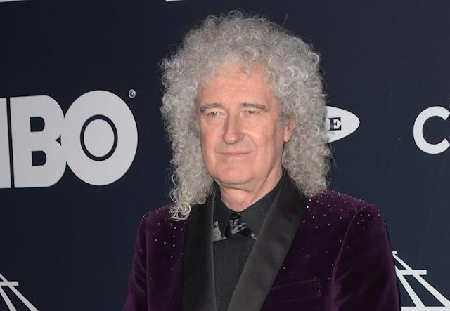 Brian May at the 2019 Rock & Roll Hall Of Fame Induction Ceremony in New York. (Photo by imageSPACE/Sipa USA)