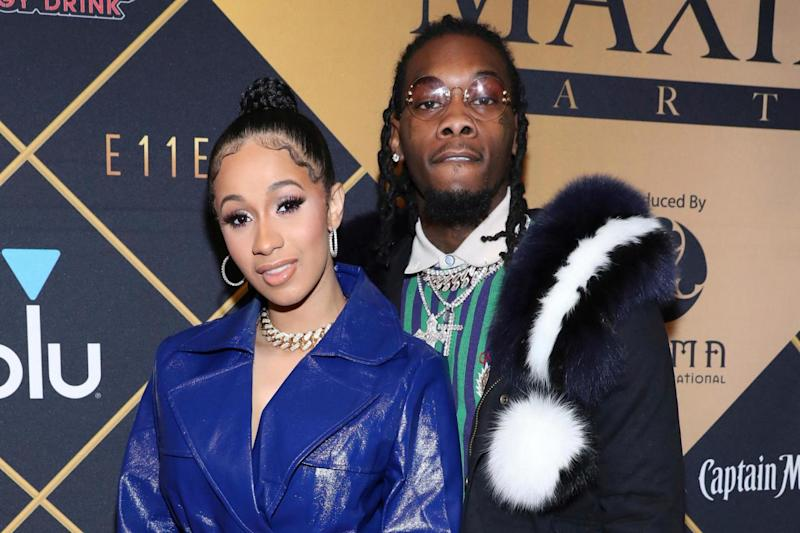 Family: Cardi B and Offset welcomed their new baby (file image) (AP)