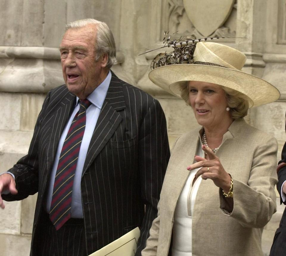 Camilla with her father Major Bruce Shand