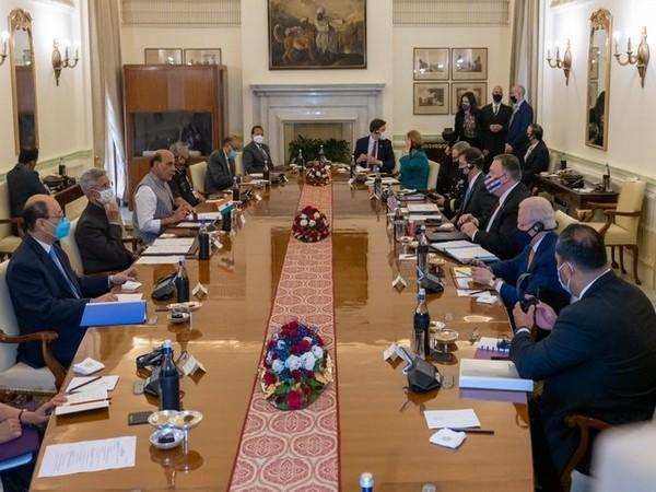 Defence Minister Rajnath Singh and External Affairs Minister S Jaishankar held talks with U.S. Secretary of State Michael R. Pompeo and Secretary of Defense, Dr Mark T. Esper, here