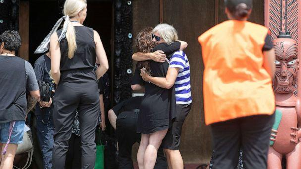 PHOTO: Family and friends of the victims of the White Island eruption along with many of the local community gathered at Mataatua Marae to observe a minute of silence on Dec. 16, 2019, in Whakatane, New Zealand. (John Borren/Getty Images, FILE)