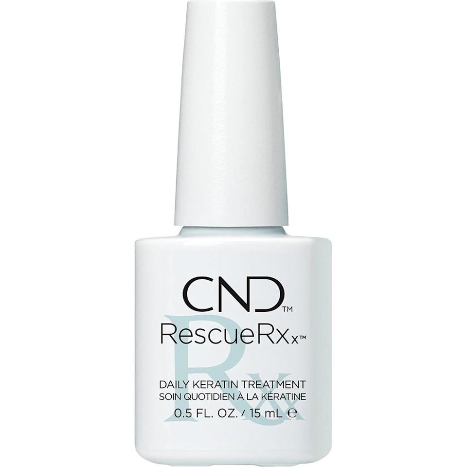 "<p>This oil-based keratin treatment by CND requires you to keep nails completely bare for a week or two in order to take its effect as you apply daily — rest assured, Miss Pop says it's one of the best strengtheners out there.</p> <p><strong>$20</strong> (<a href=""https://shop-links.co/1685075550730316414"" rel=""nofollow"">Shop Now</a>)</p>"