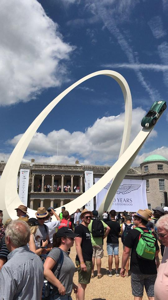 <p>Aston Martin was this year's featured marque at Goodwood on the occasion of the British sports-car brand's 70th anniversary. As such, the famous Goodwood statue adorning the front lawn for 2019 featured a storied Aston Martin DBR1 race car finished in classic British racing green.</p>