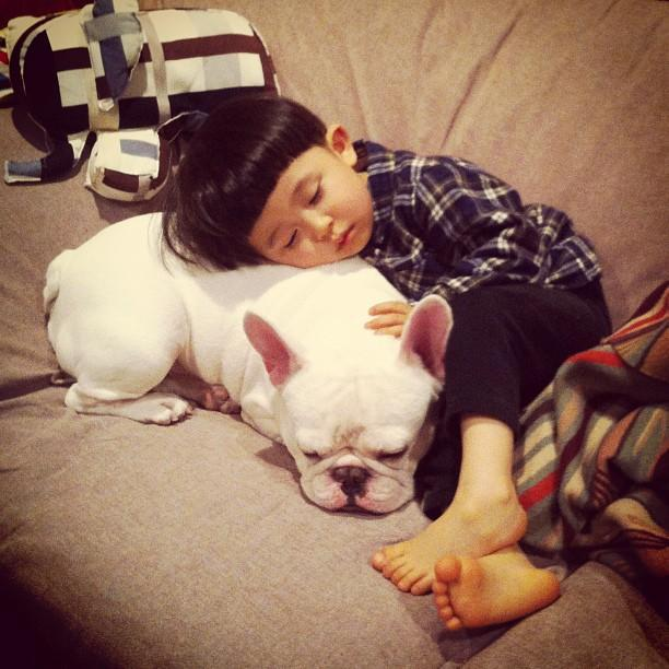 <p>A young Japanese boy named Tasuku spends quality time with his best friend, a French Bulldog named Muu. Tasuku's mother, Aya Sakai, documents the pair's relationship on Instagram and on Facebook.</p>
