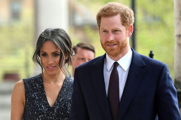 PHOTO: Britain's Prince Harry with his fiancee Meghan Markle arrive to attend a memorial service at St Martin-in-the-Fields in Trafalgar Square in London, on April 23, 2018, to commemorate the 25th anniversary of the murder of Stephen Lawrence. (Victoria Jones/AFP/Getty Images)