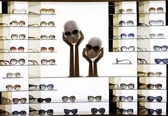 Louis Vuitton sunglasses are seen at the largest Louis Vuitton store in China, which is located in Shanghai, July 18, 2012.
