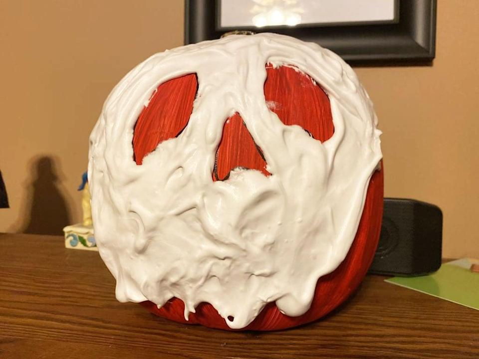 <p>Sit back, relax, and enjoy your poison apple pumpkin!</p>