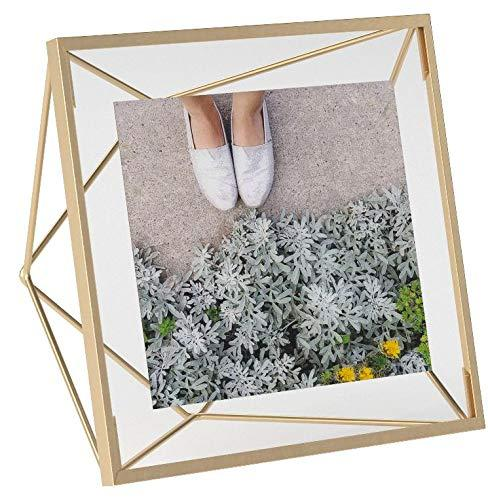 Umbra Picture Frame for Desktop or Wall, Holds One, 4 by 4-Inch, Brass (Amazon / Amazon)