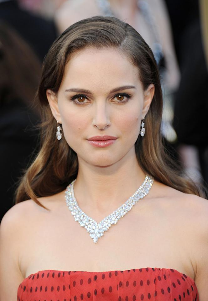 Natalie Portman arrives at the 84th Annual Academy Awards in Hollywood, CA.